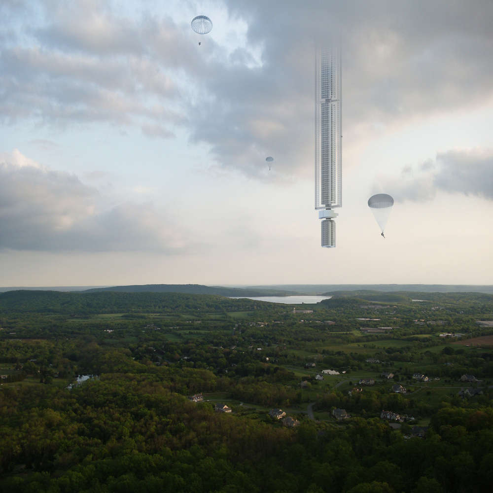 Architecture Firm Unveils Plans for Space Skyscraper Hanging from Asteroid