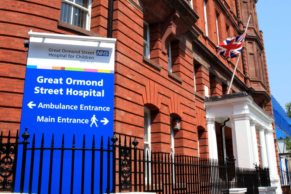 Great Ormond Street Hospital in London. Tony Baggett  Shutterstock