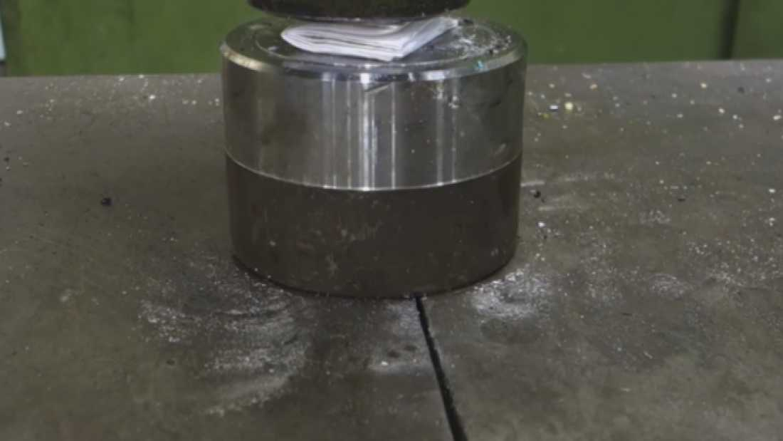461 Watch What Happens When You Use A Hydraulic Press To Try To Fold A Piece Of Paper Seven Times