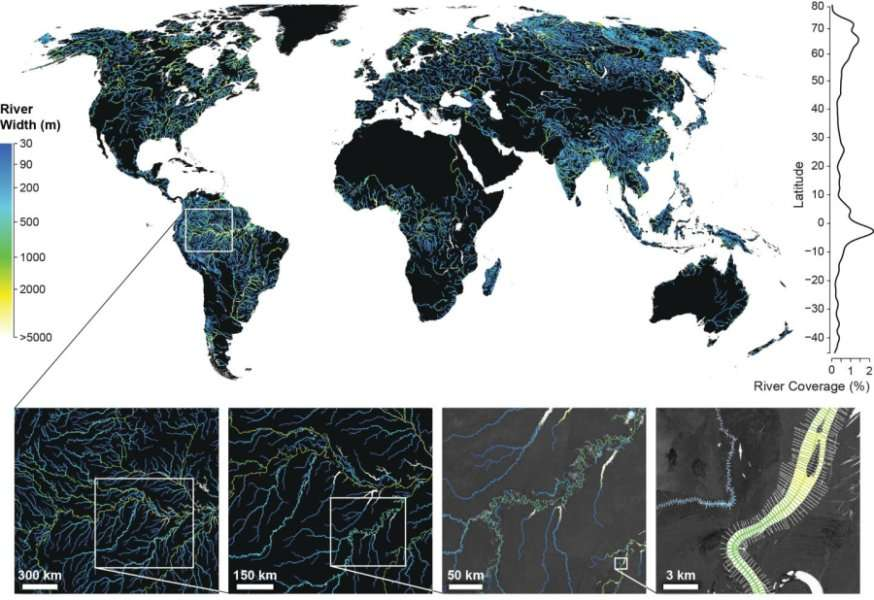 Global river, stream surface area 45 per cent higher than thought
