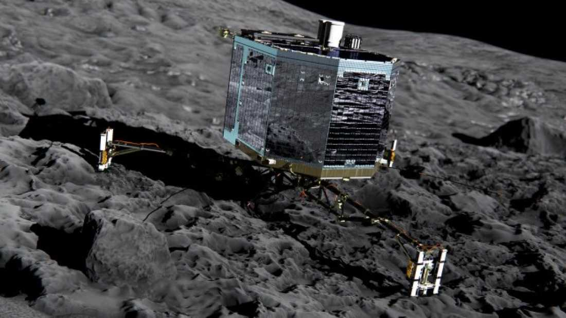 211 Philae Robot Makes Historic Landing On Comet