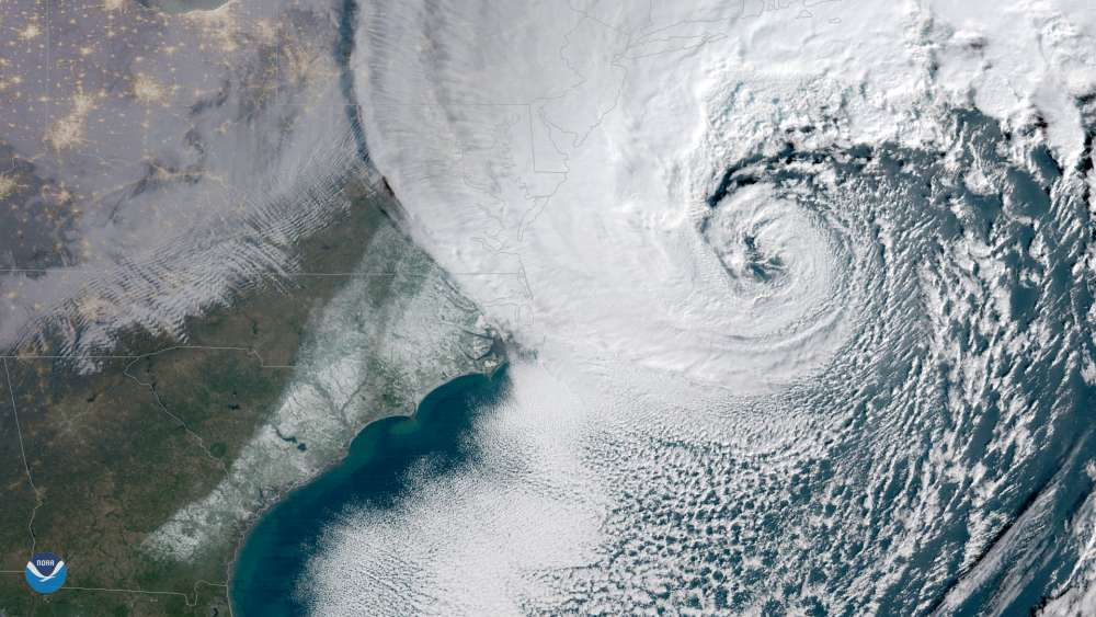 Extraordinary Satellite Photos of the Bomb Cyclone Slamming the East Coast