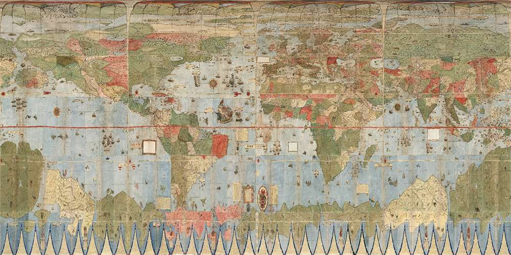 Experts Restore Largest Known Early World Map  Complete