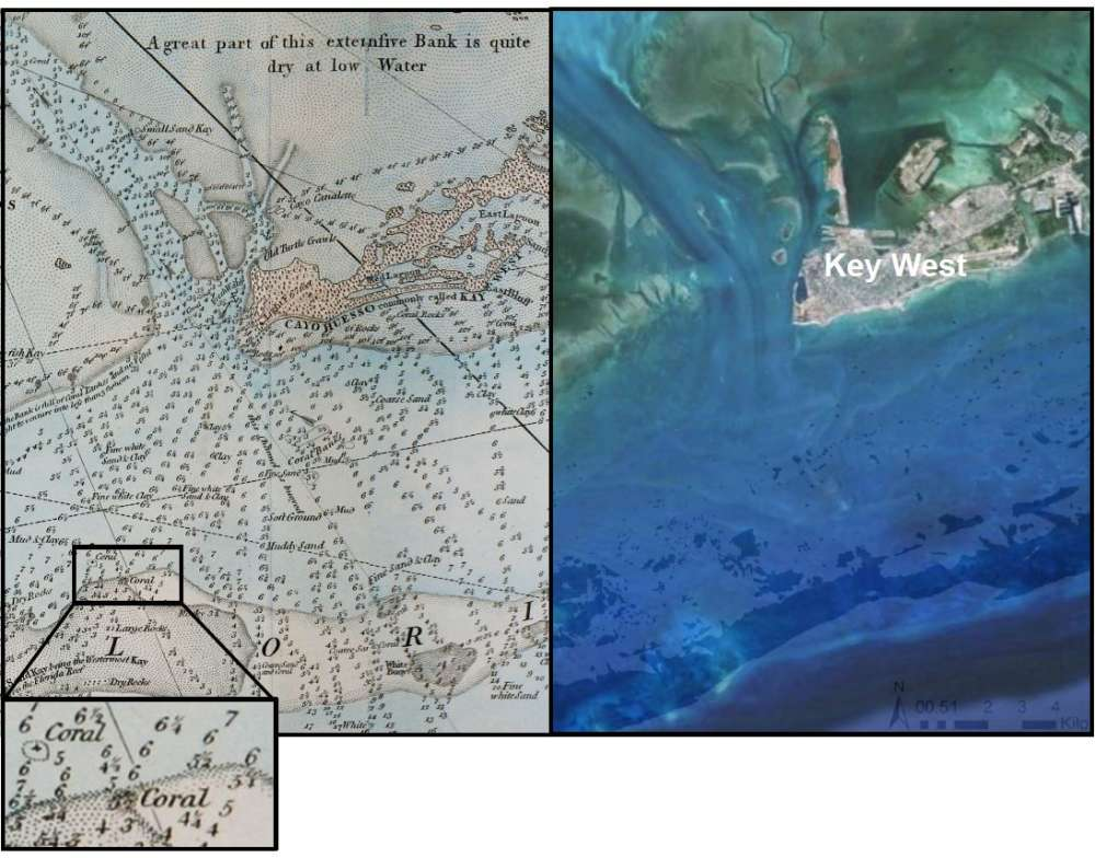 YearOld Nautical Maps Reveal Something Disturbing Off The Coast - Water depth map
