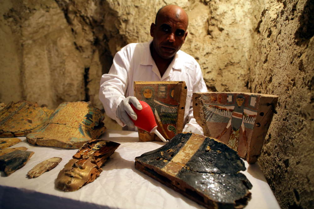 Archaeologists discover two 3500-year-old tombs in Luxor, Egypt