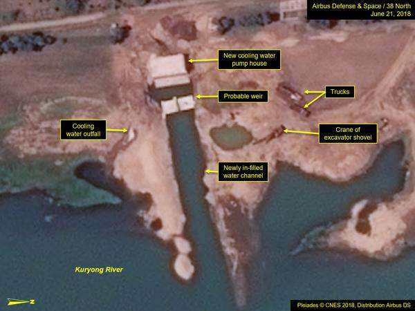 North Korea continues to work on a secret nuclear facilities