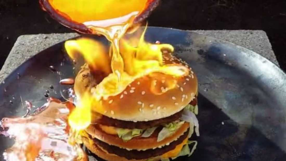 434 Something Very Strange Happens When Molten Copper Is Poured On A Big Mac