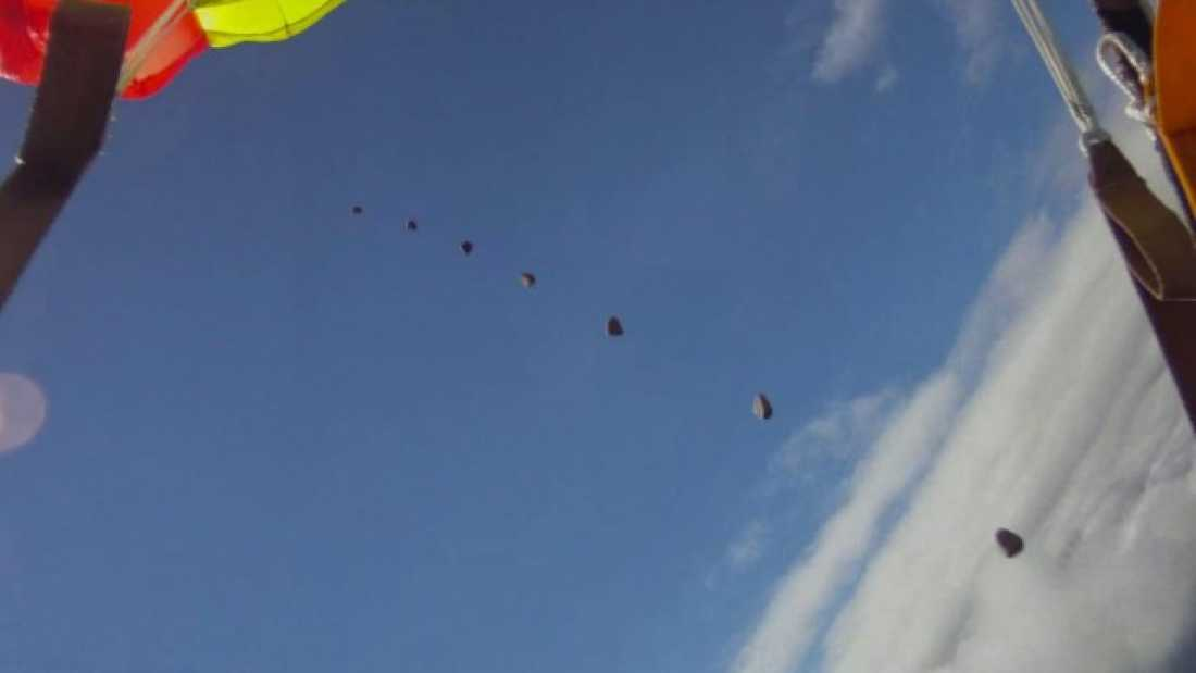 601 Skydiver Almost Hit by Meteorite