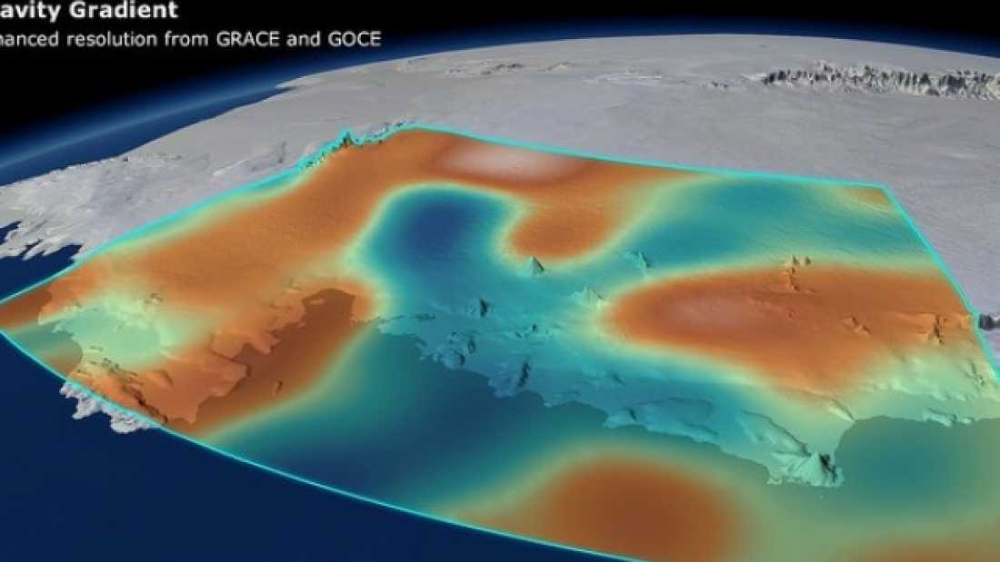 2297 Loss of Antarctic Ice Causing Gravity Dips