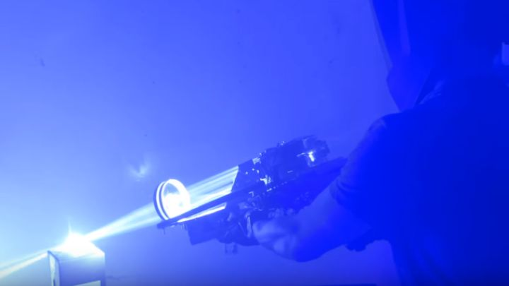 Homemade Super Powerful Laser Bazooka Is More Blinding