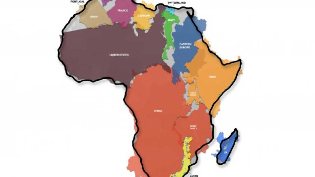 446 This Is The True Size Of Africa