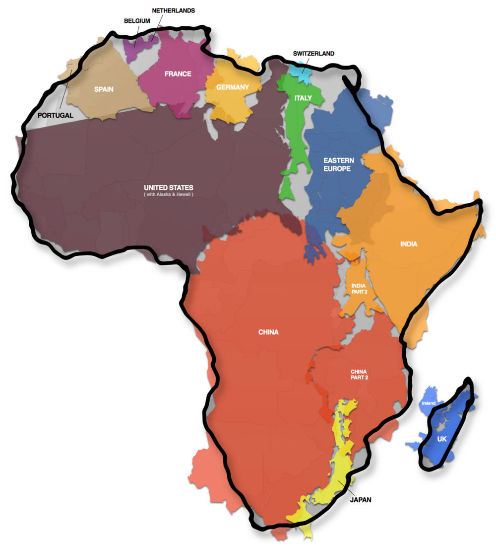 10 maps that will change how you view the world iflscience a new perspective of africa gumiabroncs Gallery