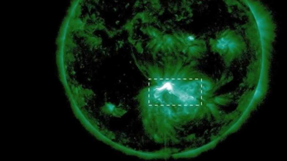 541 First Sighting of Gigantic Energy Buildup Confirms Solar Flare Models