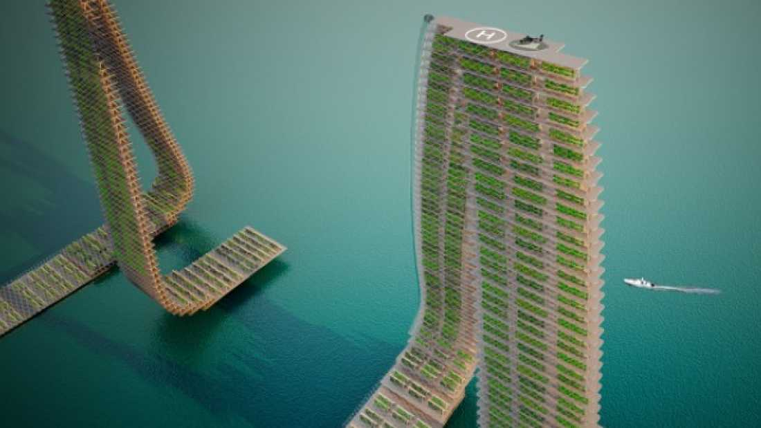 2083 Densely Populated Countries Could Find Food Independence With Vertical Floating Farms