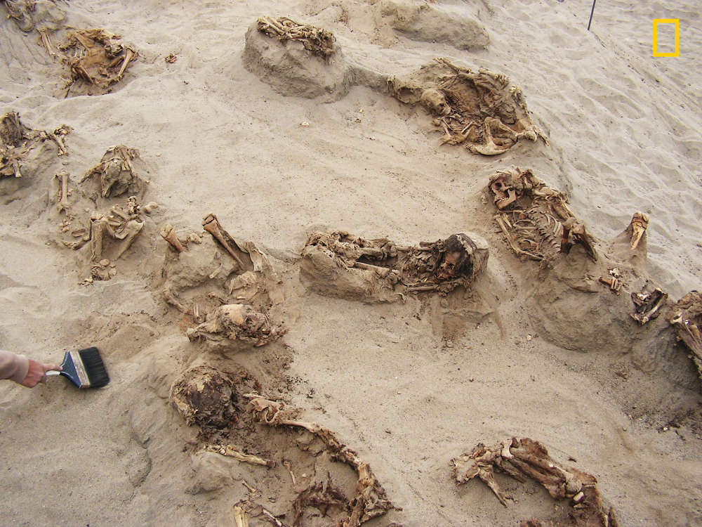 Mass grave of children in Peru