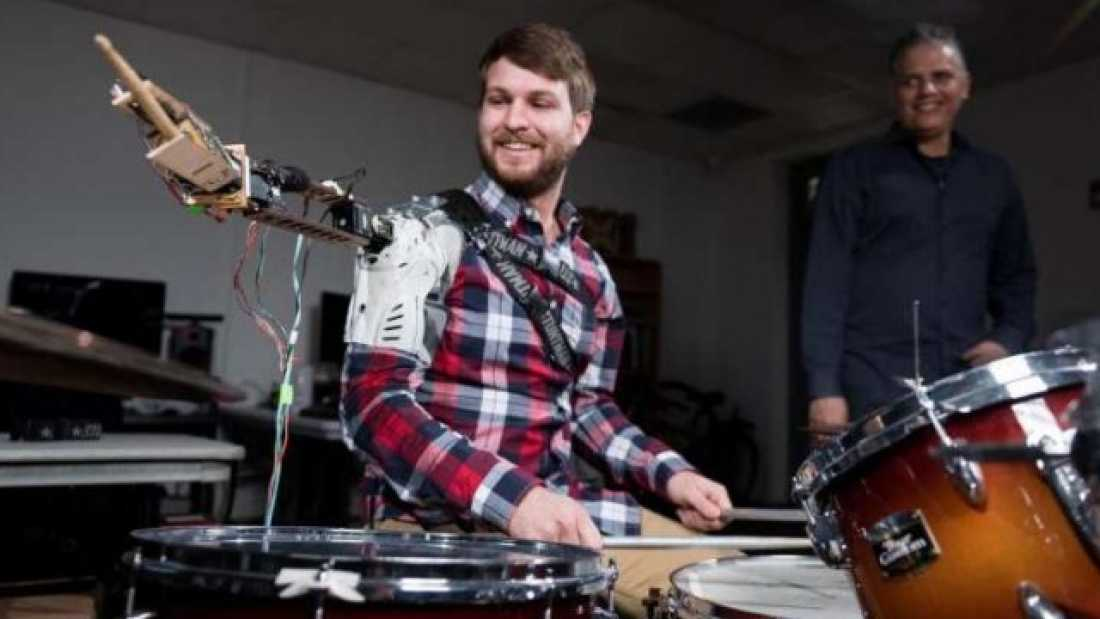 1390 Robot Turns Musicians Into Three-Armed Cyborg Drummers