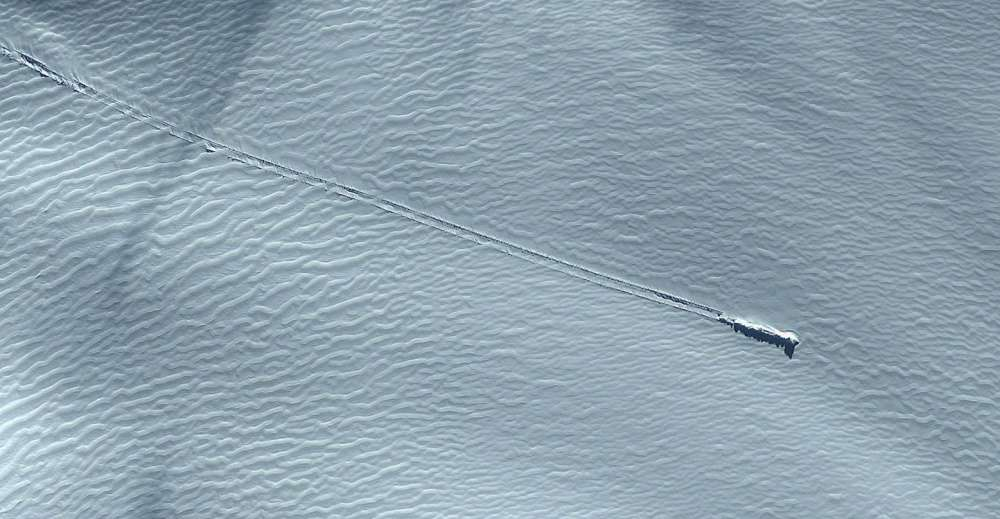 Mysterious Suspected UFO Wreck Spotted Near Antarctica