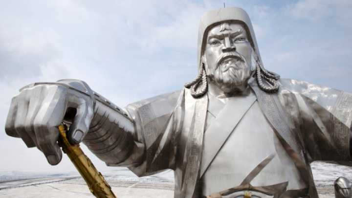 chingis khan the great mongolian leader essay Genghis khan – man of the millennium - he created russia, united  a few  hundred kilometers west of the soviet built capital of mongolia, ulaan baatar, the  nomadic life continues much as it has since the time of the great khan  had  already been self-coronated emperor and was well on his way to his.