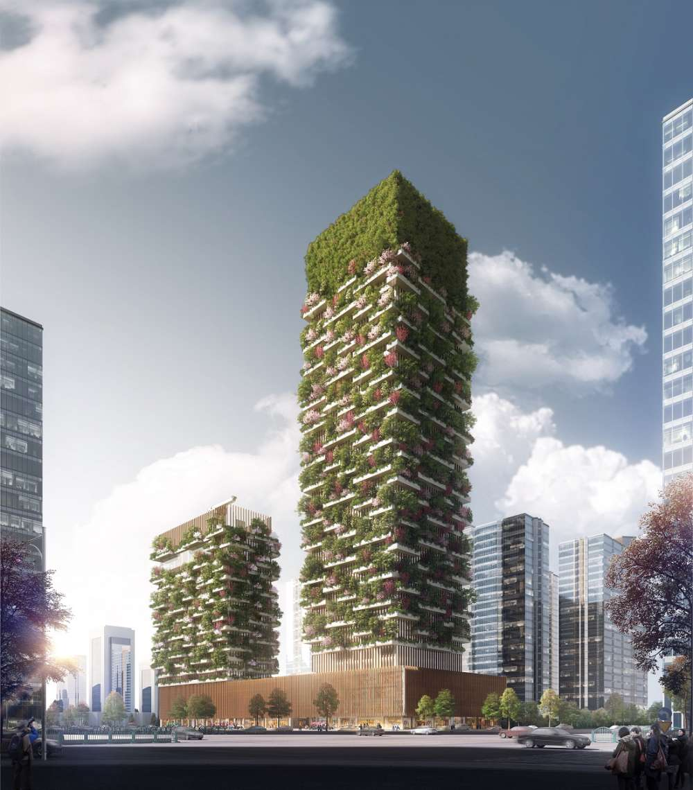 China to get vertical gardens in 2018 to help tackle for Bosco verticale architetto