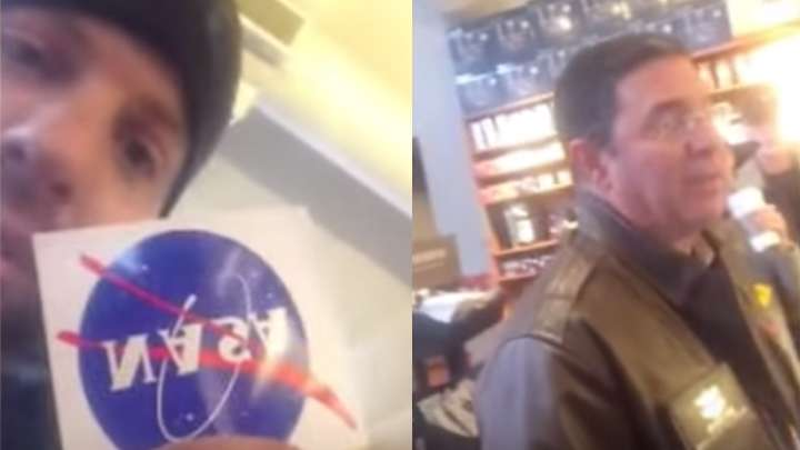 Flat-Earther Confronts NASA Scientist In Starbucks, Scientist Reacts Brilliantly