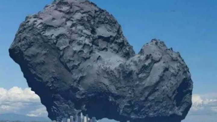 Graphic Shows The Size Of Rosetta's Comet