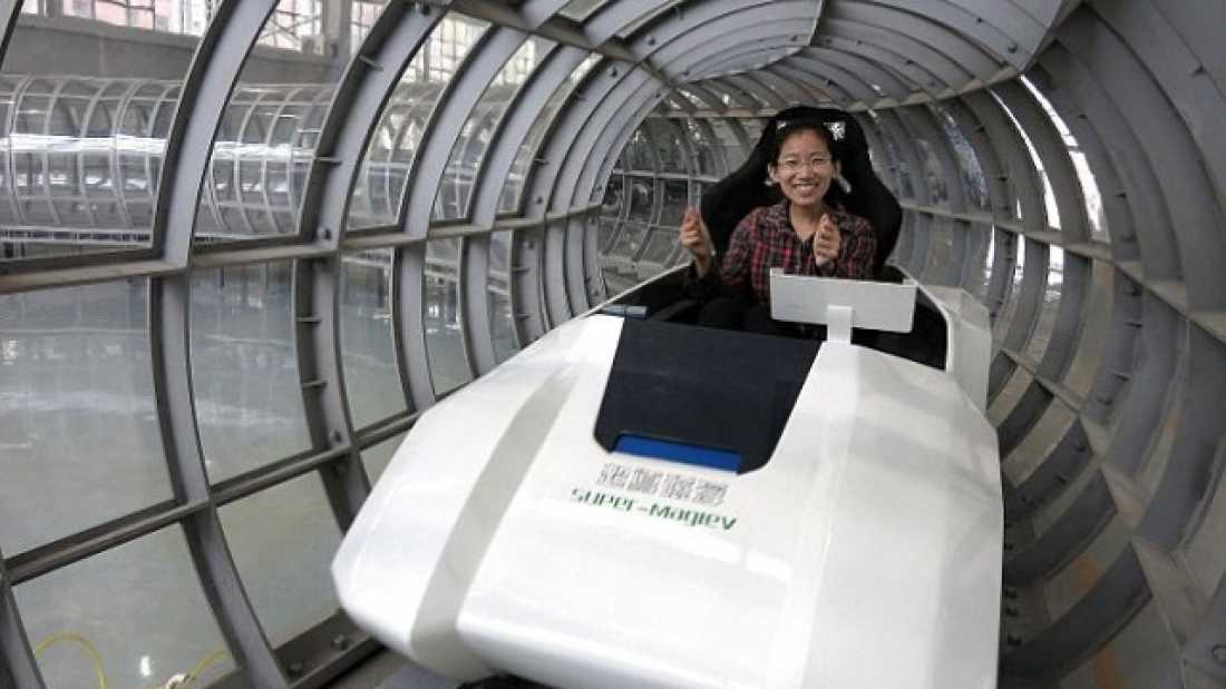 985 Magnetic Levitation Train Could Reach Speeds Of 1,800 Miles Per Hour