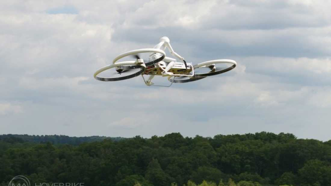 1914 3D Printed Robot Takes Hoverbike Out For A Spin