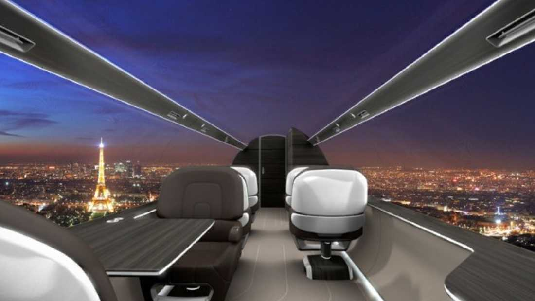 1879 Windowless Planes Offer Passengers Spectacular Panoramic Views