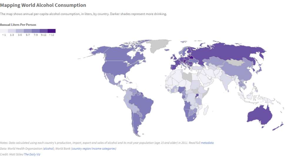 Which Country Drinks The Most Alcohol Iflscience