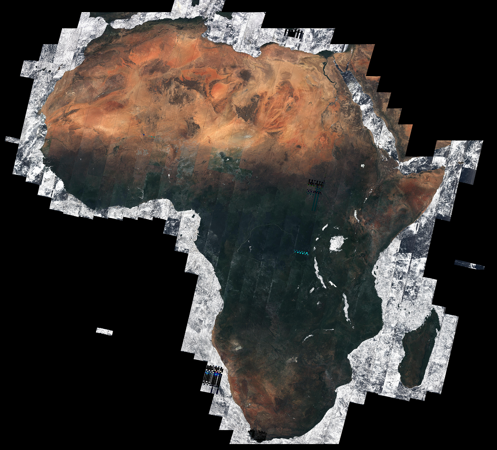 Stunning Satellite Images Show Cloudless View Of The Whole Of - Satellite map sites