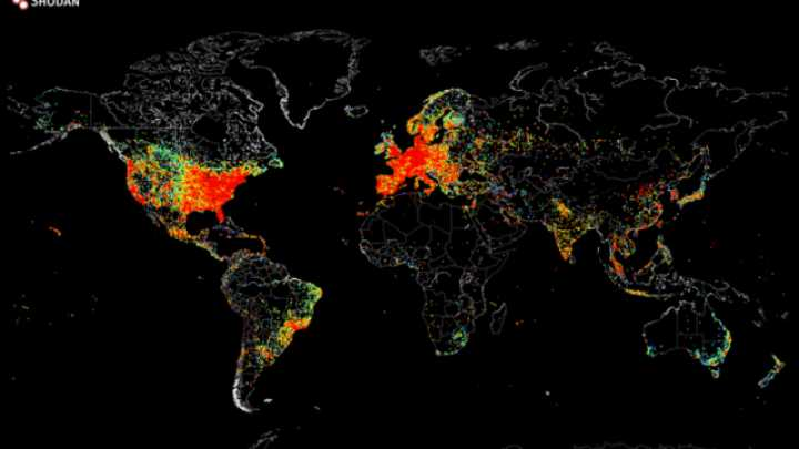Map Shows All The Devices In The World Connected To The Internet