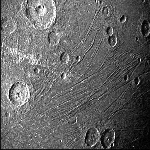 This image of the dark side of Ganymede was obtained by Juno's Stellar Reference Unit navigation camera during its June 7, 2021, flyby of the moon. Credit: NASA/JPL-Caltech/SwRI