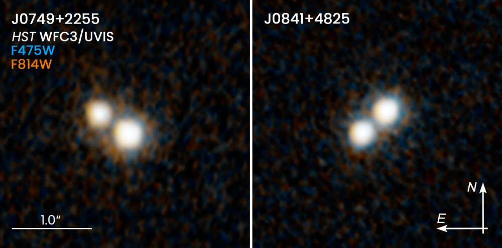 The Hubble views of the quasars pairs