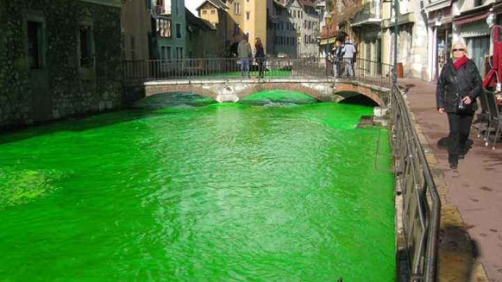 Why Have Rivers In France Turned Vivid Green This Week?