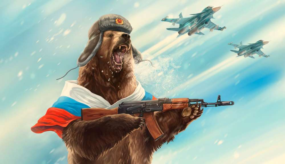 Image result for putin on a bear""