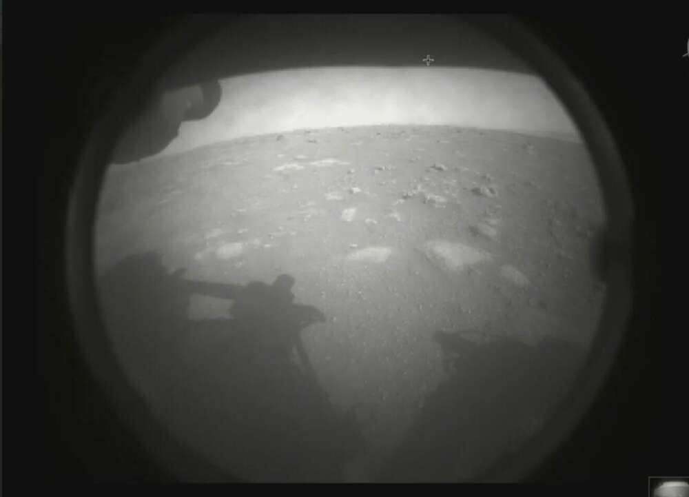 Perserverance's first Mars view