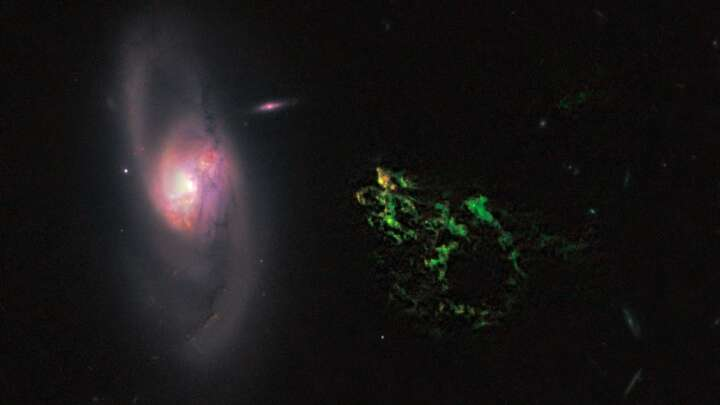 A Blob And A Bubble Tell Us The History Of A Supermassive Black Hole