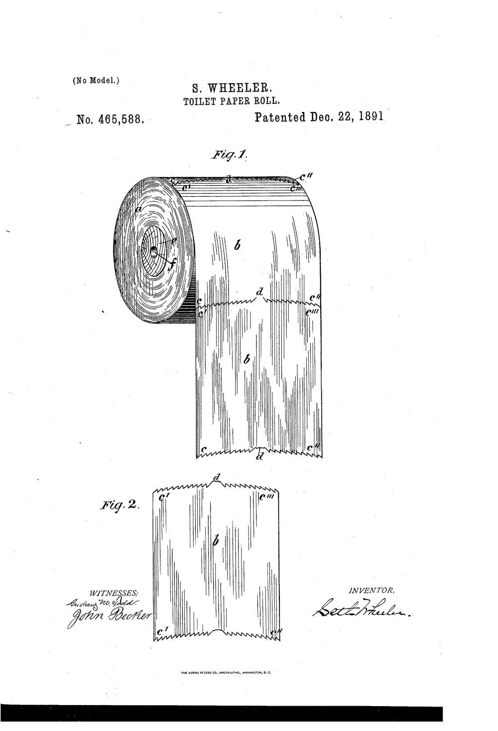 Perforated toiler paper patent