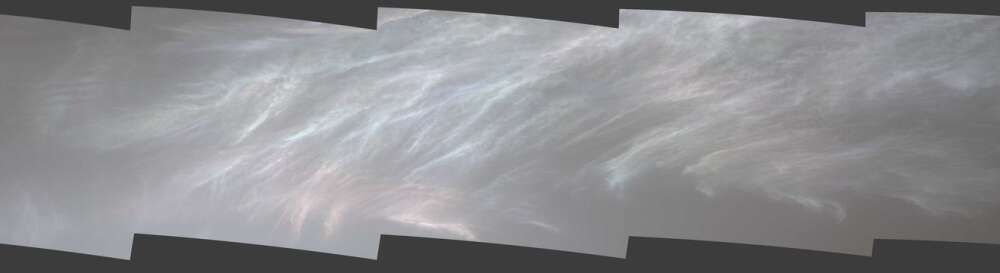 Curiosity mother of pearl clouds Mars