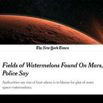 Watermelons on Mars