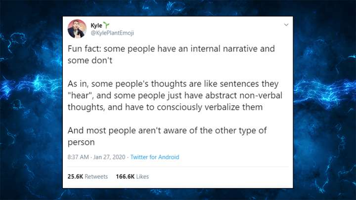 People Are Weirded Out To Discover That Some People Don't Have An Internal Monologue