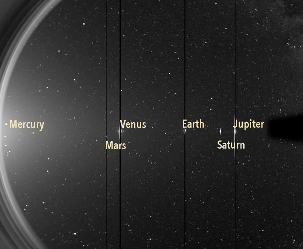 NASA's Solar and Terrestrial Relations Observatory saw most of the solar system's planets in one image on June 7, 2020.