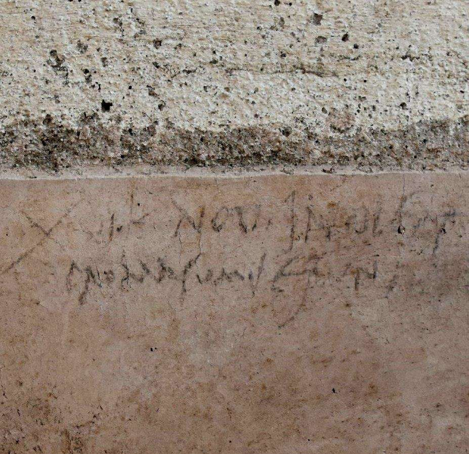 The Graffiti In All Its Glory Pompeii Parco Archeologico