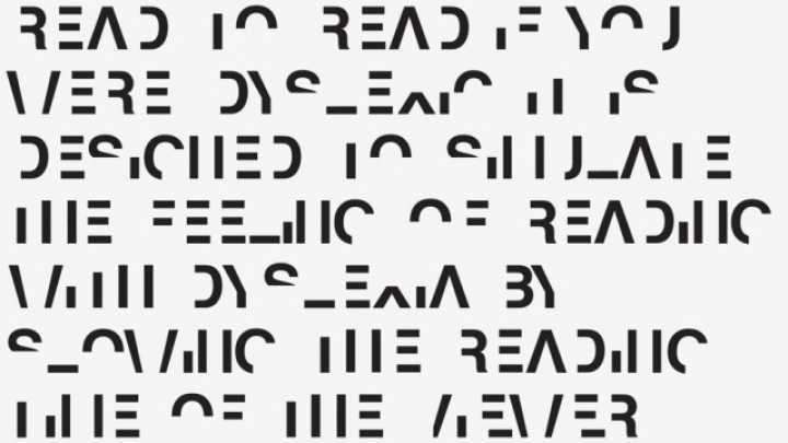 This Font Simulates What It's Like To Have Dyslexia