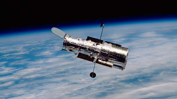Astronomers fear we may be on the verge of saying goodbye to the telescope that changed our view of the universe, seen here in orbit, but it's not tim