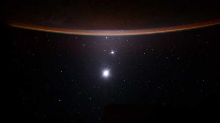 Astronaut Captures Spectacular Image Of Planetary Alignment From