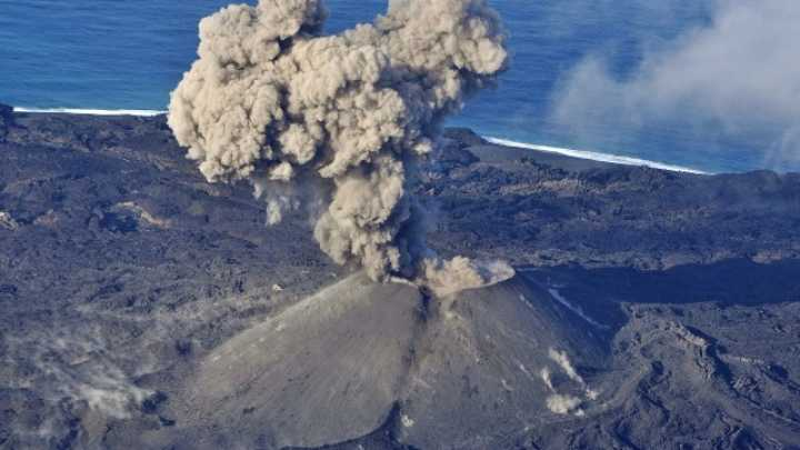 Volcanic Eruption Creates New Island Off Japanese Coast ...
